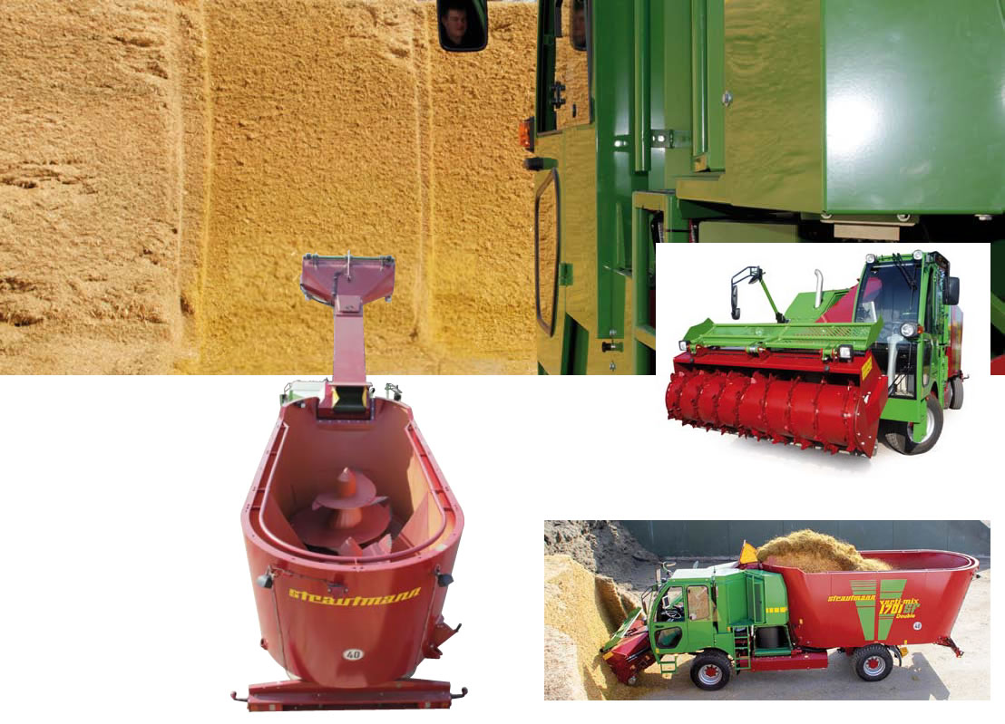 various photos of the self propelled diet feeder milling features